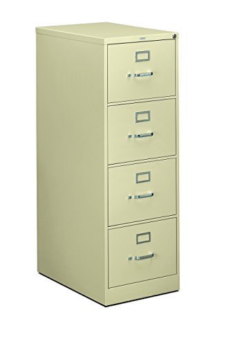 HON 4-Drawer Filing Cabinet - 310 Series Full-Suspension Legal File Cabinet, 26-1/2-Inch, Putty (H314C) (Vertical File Cabinet 4 Drawer)