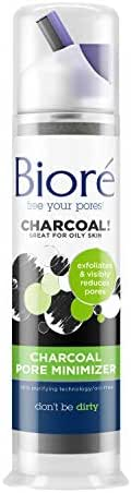 Bioré Charcoal Pore Minimizer for Oily Skin 3.11 Fluid Ounces, Deep Cleans and Exfoliates for Visibly Smaller Pores, Paraben Free, Vegan Friendly, Cruelty Free, Dermatologist Tested