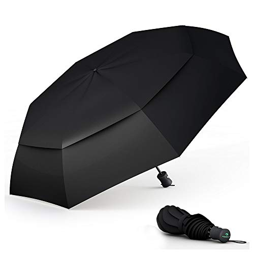 Procella Windproof Travel Umbrella - Small Collapsible and Lightweight - Large Cover When Open - Best for Kids Mens Womens by Procella