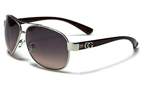 D618 Dg or CG Eyewear Metal Aviator Womens Fashion Sunglasses (CG Brown) from Unknown