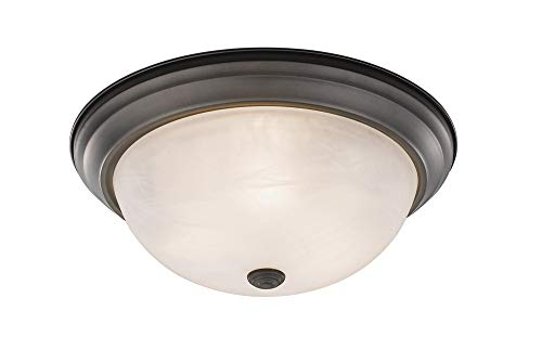 (Z-Lite 4001F15-AL-BRZ Athena 3 Light Flush Mount)