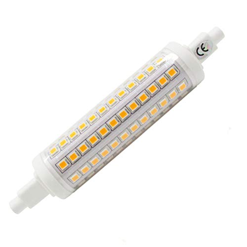 Dayker R7s LED 118mm Dimmable 10W Double Ended J Type 1000LM AC 110V R7s Standard Floodlight Halogen Replacement Bulb(Warm White)