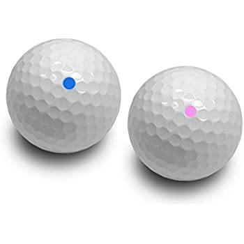 Gender Reveal Pink and Blue Powder exploding Golf Ball