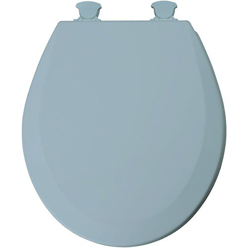 Bemis Wood Bowl (Bemis 46ECDG 034 Blue Molded Wood Toilet Seat w/ Easy Clean & Change Hinges)