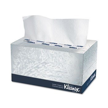 6 Pack KLEENEX Hand Towels, POP-UP Box, Cloth, 9 x 10 1/2, 120/Box by KIMBERLY-CLARK (Catalog Category: Office Maintenance, Janitorial & Lunchroom / Cleaning Supplies)