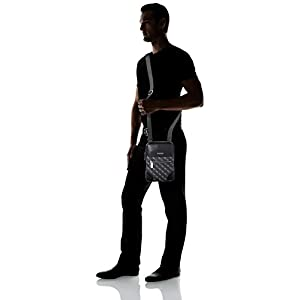 Guess Men's Manhattan Logo Shoulder Bag