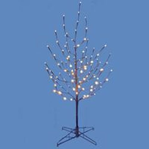 Kurt Adler 4-Feet Twig Tree with White LED Lights (Pre Twigs Lit)