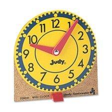 Judy Clocks Mini (Learning Clocks Set,Mini,Moveable Hands,Wood Base,12/ST, Sold as 1 Set, 12 Each per Set)