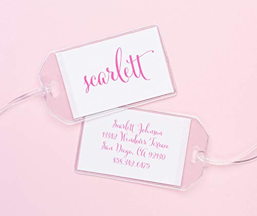 - Personalized Luggage Tag, Luggage tags for girls, Diaper bag tags for girls, Backpack tags for kids, Personalized backpack tags, Your choice of colors