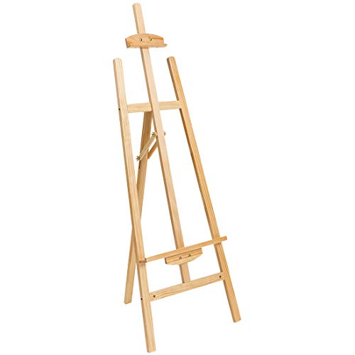 Marble Field Adjustable Wooden Tripod Easel Display Floor Easel Sketch Painting Portable Natural]()