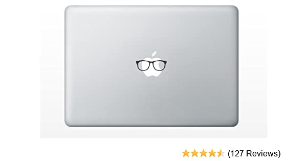 cf85fa7bc Amazon.com: Glasses funny cute decal sticker for Apple Macbook laptop pro  and air 13