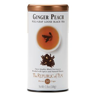- The Republic Of Tea Ginger Peach Full-Leaf Black Tea, 3.5 Ounces / 50-60 Cups (Refill Bag)