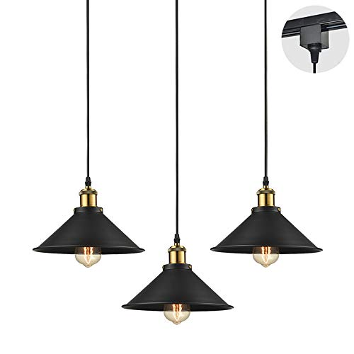 STGLIGHTING 3-Pack H-Type Track Light Pendants 10.23