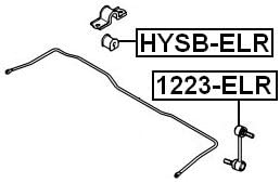 FEBEST 1223-ELR Rear Stabilizer Link