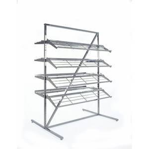 Shoe Display Rack with Adjustable Shelves