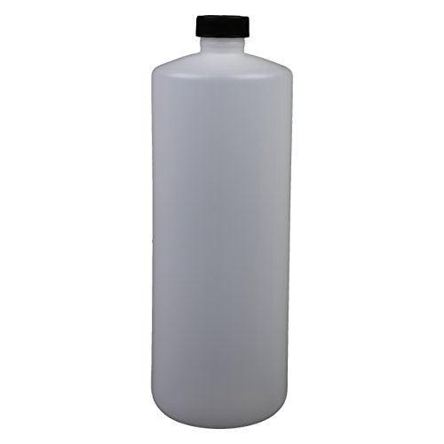 (Consolidated Plastics Cylinder Bottle with Cap, HDPE, Natural, 32oz, 12 Piece)