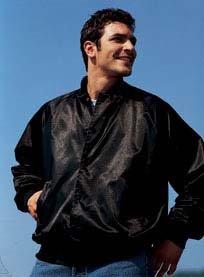 Augusta Sportswear Adult Satin Baseball Jacket with Solid Trim -