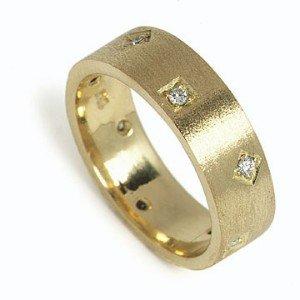 14K Yellow Gold Diamond Ring,