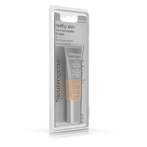 Neutrogena Healthy Skin 3-In-1 Concealer For Eyes Broad Spectrum Spf 20, Light 10, .37 Oz.