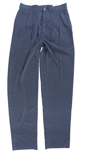 Joseph Abboud Men's Pleated Lux Dress Pants in Navy, 32