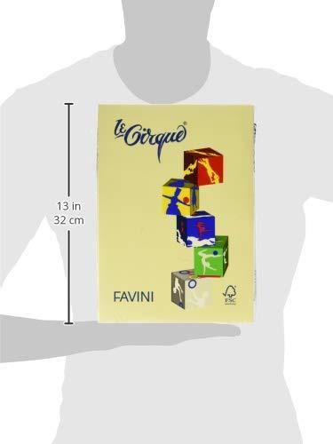 500 Fogli Giallo 80 Gr Favini 042147.100 Risma Carta Le Cirque A4