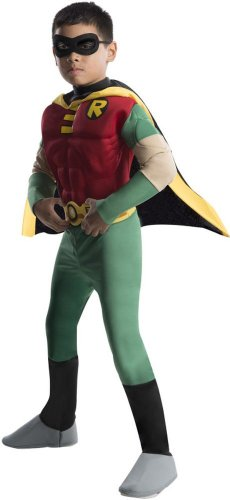 [Teen Titan Robin Costume - Toddler Costume deluxe - Large] (Teen Titan Robin Costumes)