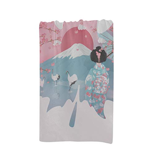 HUCG Beach Towel Light Japanese Landmark Tori Gate Fuji Maple Custom Microfiber Large Printing 32 X 64 Inches Beach Towel for Women