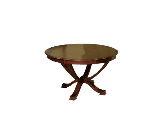Furniture of America Rakula Round Pedestal Dining Table, Brown Cherry Finish