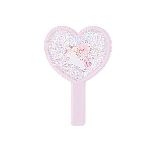 KAKAO FRIENDS Official- Lovely Apeach Glitter Hand Held Mirror ()