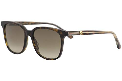 65e3a2f52d9 Gucci GG 0376S 002 Havana Plastic Square Sunglasses Brown Gradient Lens   Amazon.co.uk  Clothing