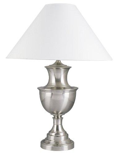 (ORE International 6235SN 28-Inch 150-Watt Metal Table Lamp, Satin Nickel)