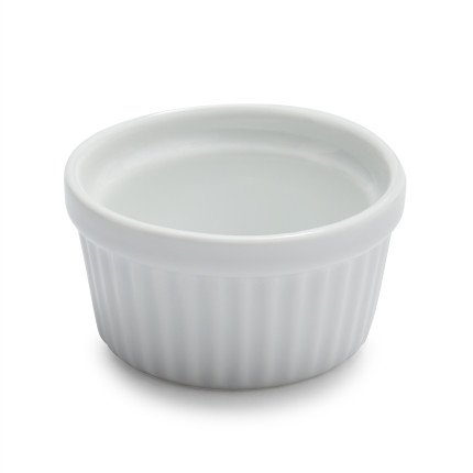 Sur La Table Porcelain Round Ramekin with Ribbed Sides HB4618, 10 oz. ()