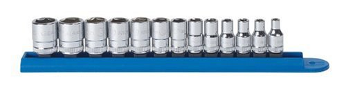 GEARWRENCH 80302 13 Piece 1/4-Inch Drive 6 Point Standard Metric Socket Set ()