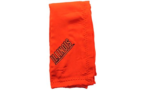 Comfy Feet ILLBB - Illinois Fighting Illini Baby - Blanket - Officially Licensed - Happy Feet (Illini Fighting Blanket)