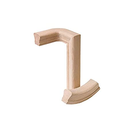 6010 Wood Staircase Handrail Fitting for Stair Remodel 7040 Red Oak Left Hand Turnout
