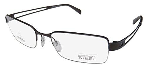 Adidas Af06 Mens/Womens Designer Half-rim Eyeglasses/Eyewear (52-18-140, Chocolate / Navy)