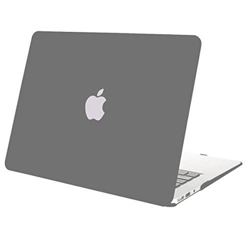 Mosiso Plastic Hard Case Cover for MacBook Air 13 Inch (Models: A1369 and A1466), - Case Grey