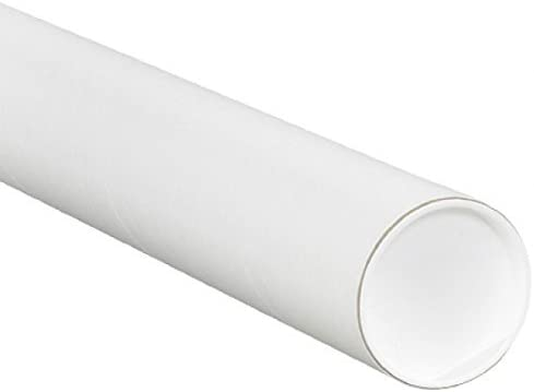RetailSource P3012Wx3 3 x 12 White Mailing tubes with Caps (Pack of 3) [並行輸入品]