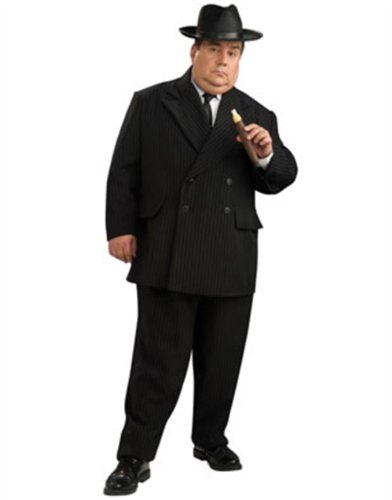 Mafia Gangster Mens Big and Tall Halloween Costume Plus (Mafia Halloween Costume)