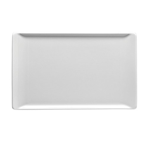 (Thomas Loft Plate, Serving Plate, Angular, Flat, Porcelain, White, Dishwasher Safe, 24 x 15 cm, 12380 )