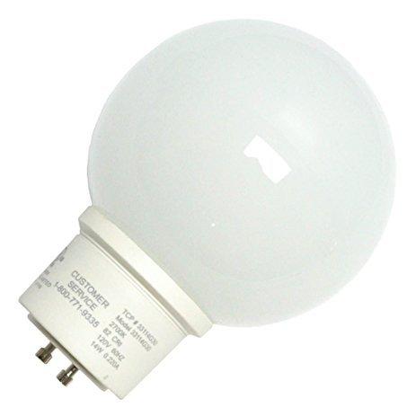 TCP 14W G30 CFL Globe Lamp - 33114G30 (Case of 48)