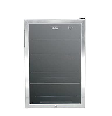 Haier HEBF100BXS Wine & Beverage Center, Small, Stainless Steel