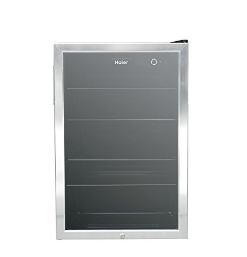 Haier HEBF100BXS Wine & Beverage Center, Small, Stainless Steel by Haier