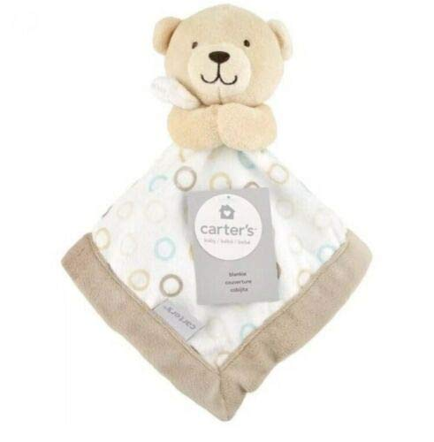 Carters Tan Bear Baby Security Blanket Lovey
