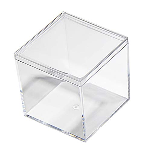 24 Pack Small Clear Acrylic Boxes High Quality Transparent Cube Case 2.5x2.5x2.5 Inches by Fulemay.
