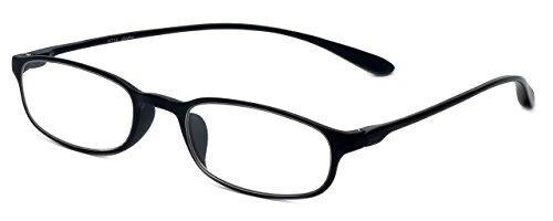 Calabria Reading Glasses - 718 Flexie in Ebony (+2.50)