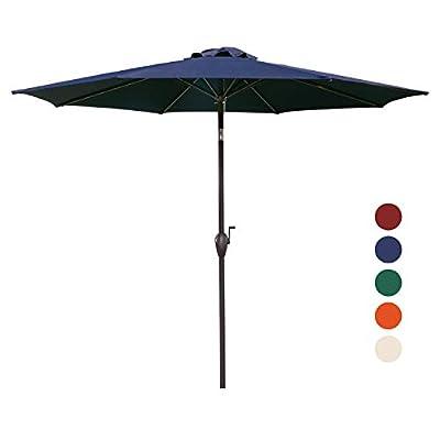 KINGYES 9 Ft Patio Umbrella Outdoor Table Umbrella