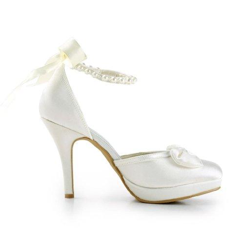 Jia Brautschuhe Hochzeitsschuhe 3704A Jia Pumps Beige Wedding Damen 4w6Zxdx