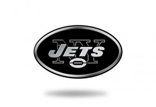 Rico Industries NFL New York Jets Chrome Finished Auto Emblem 3D Sticker