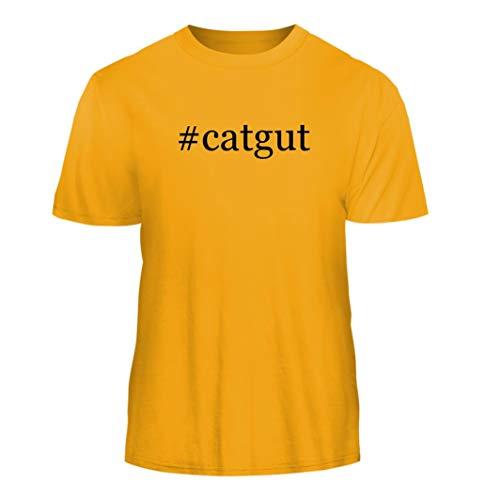 (Tracy Gifts #Catgut - Hashtag Nice Men's Short Sleeve T-Shirt, Gold, X-Large)